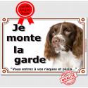 """Springer, plaque """"Je Monte la Garde"""" 3 tailles LUX C"""