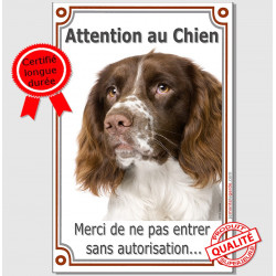 """Springer, plaque portail verticale """"Attention au Chien"""" 24 cm LUXE"""