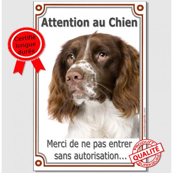 Springer Tête Plaque Portail Verticale attention au chien, pancarte affiche panneau photo, interdit sans autorisation