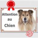 """Colley Tête, plaque portail """"Attention au Chien"""" 2 tailles LUX A"""