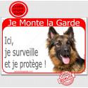 "Berger Allemand, plaque rouge ""Je Monte la Garde"" 2 Tailles RED C"