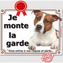 """Am-Staff, plaque """"Je Monte la Garde"""" 2 tailles LUX C"""