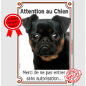 """Brabançon, plaque verticale """"Attention au Chien"""" 24 cm LUXE A"""