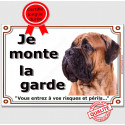 "Bullmastiff, plaque ""Je Monte la Garde"" 2 tailles LUX C"