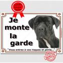 """Cane Corso tête, plaque """"Je Monte la Garde"""" 4 tailles LUX B"""