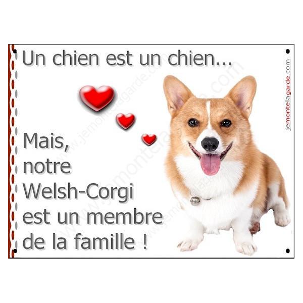 Welsh Corgi face, Plaque Portail un chien est un chien, membre de la famille, pancarte, affiche panneau