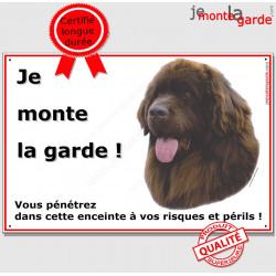 "Terre Neuve, plaque ""Je Monte la Garde"" 24 cm ECO"