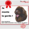 "Terre Neuve Chocolat plaque ""Je Monte la Garde"" 24 cm ECO"