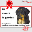 """Hovawart, plaque """"Je Monte la Garde"""" 24 cm ECO"""