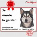"Alaskan Malamute, plaque ""Je Monte La Garde"" 24 cm ECO"