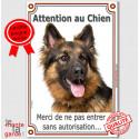 """Berger Allemand, plaque """"Attention au Chien"""" 24 cm VLUX-A"""