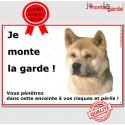 "Akita Inu Fauve, plaque ""Je Monte la Garde"" 2 tailles ECO A"