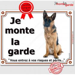 """Berger Allemand, plaque """"Je Monte la Garde"""" 2 tailles LUX B"""