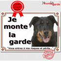 """Beauceron Tête plaque """"Je Monte la Garde"""" 3 tailles LUX B"""