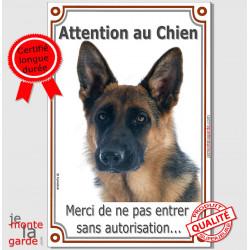"""Berger Allemand, plaque verticale """"Attention au Chien"""" 24 cm LUX A"""