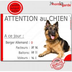 """Berger Allemand, plaque """"Nombre de Voleurs, ballons, facteurs"""" 24 cm NBR"""