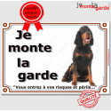 """Setter Gordon assis, plaque """"Je Monte la Garde"""" 2 tailles LUX B"""
