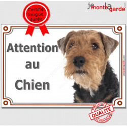 "Welsh Terrier tête, plaque portail ""Attention au Chien"" pancarte panneau affiche photo race"