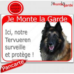 """Tervueren Tête, plaque rouge """"Je Monte la Garde"""" 24 cm RED"""