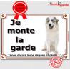 """Montagne des Pyrénées, plaque """"Je Monte la Garde"""" 24 cm LUX B"""