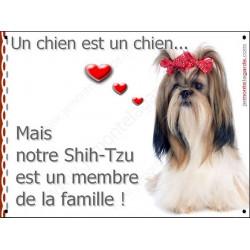 Shih-Tzu Kiki, Plaque Portail un chien est un chien, membre de la famille, pancarte, affiche panneau