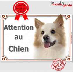 """Berger Islandais Tête, plaque portail """"Attention au Chien"""" pancarte panneau photo affiche"""