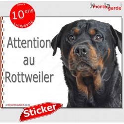 """Rottweiler, panneau autocollant """"Attention au Chien"""" Pancarte sticker photo Rott adhésif"""