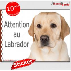 """Labrador, autocollant """"Attention au Chien"""" 16 cm"""