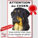 """Hovawart, plaque verticale """"Attention au Chien"""" 24 cm ECO"""