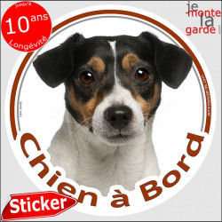 "Jack Russell, sticker ""Chien à Bord"" 15 cm"