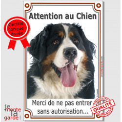 "Bouvier Bernois, plaque verticale ""Attention au Chien"" 24 cm LUX A"