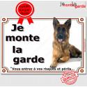 """Berger Allemand, plaque portail """"je Monte la Garde"""" 24 cm LUXE A"""