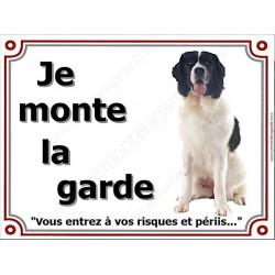 """Landseer Assis, plaque """"Je Monte la Garde"""" 4 tailles LUX B"""