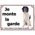 """Landseer Assis, plaque """"Je Monte la Garde"""" 3 tailles LUX C"""