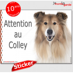 "Colley, autocollant ""Attention au Chien"" 16 x 12 cm"