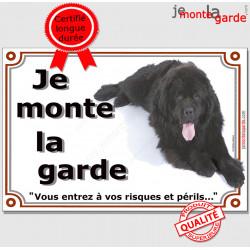 "Terre Neuve, plaque ""Je Monte la Garde"" 2 tailles LUXE C"
