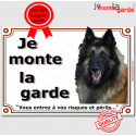 """Tervueren, plaque """"Je Monte la Garde"""" 3 tailles LUX C"""