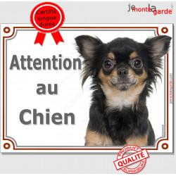 """Chihuahua, plaque """"Attention au Chien"""" 2 tailles LUX C"""