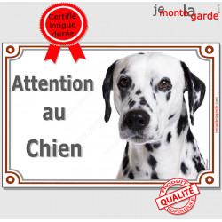 """Dalmatien, plaque portail """"Attention au Chien"""" 24 cm LUXE C"""