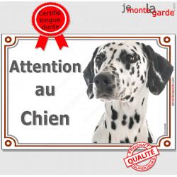 """Dalmatien, plaque """"Attention au Chien"""" 2 tailles LUX C"""
