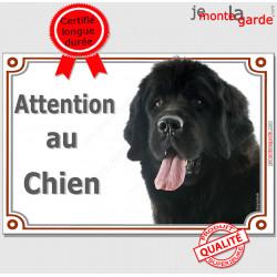 """Terre Neuve, plaque portail """"Attention au Chien"""" 24 cm LUXE C"""