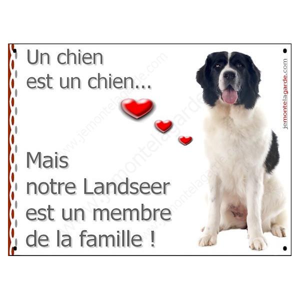 Landseer Assis, Plaque Portail un chien est un chien, membre de la famille, pancarte, affiche panneau