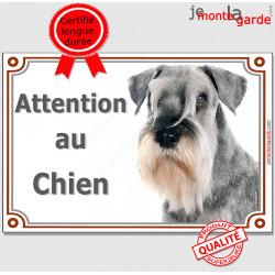 """Schnauzer, plaque portail """"Attention au Chien"""" 24 cm LUX C"""