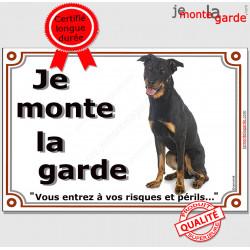 """Beauceron, plaque """"Je Monte la Garde"""" 2 tailles LUX C"""
