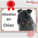 """Kerry Blue, plaque portail """"Attention au Chien"""" 24 cm LUXE C"""