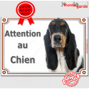 "Basset Hound, plaque portail ""Attention au Chien"" 24 cm LUXE C"