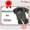 """Cane Corso, plaque """"Attention au Chien"""" 24 cm LUXE C"""