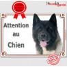 """Akita USA, plaque portail """"Attention au Chien"""" 24 cm LUXE C"""