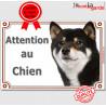 """Shiba Inu, plaque portail """"Attention au Chien"""" 24 cm LUX C"""