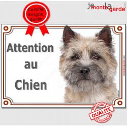 """Cairn Terrier Tête, plaque portail """"Attention au Chien"""" pancarte panneau photo race"""